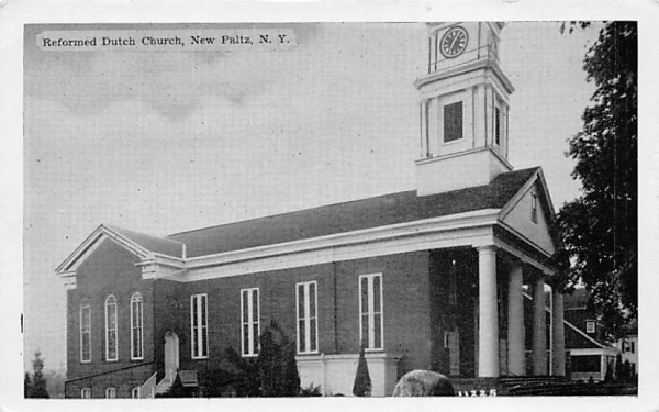 Reformed Dutch Church New Paltz, New York Postcard