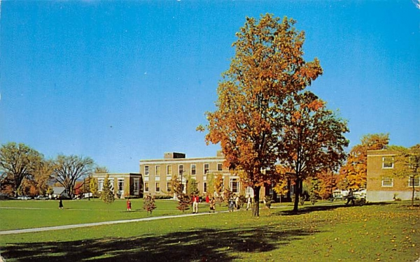 College Library State University College New Paltz, New York Postcard