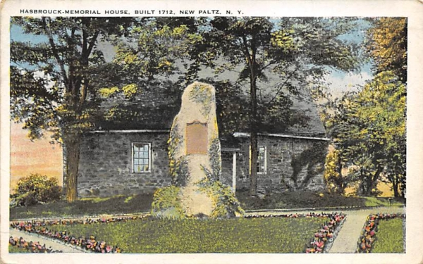 Hasbrouck Memorial House 1712 New Paltz, New York Postcard