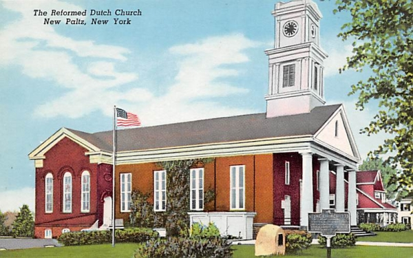 The Reformed Dutch Church New Paltz, New York Postcard