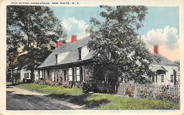 Old Elting Homestead New Paltz, New York Postcard
