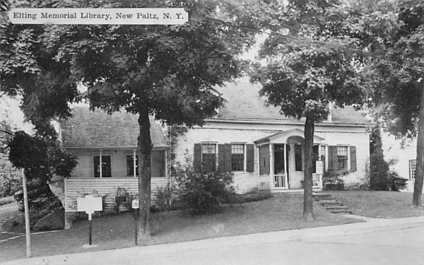 Eliting Memorial Library New Paltz, New York Postcard
