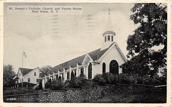 St Josephs Catholic Church New Paltz, New York Postcard