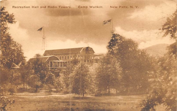 Radio Towers Camp Wallkill New Paltz, New York Postcard