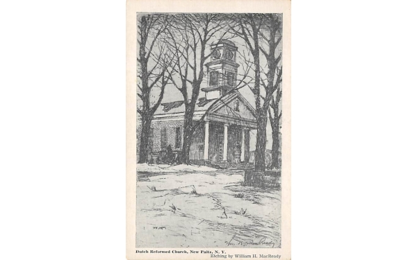 Dutch Reformed Church New Paltz, New York Postcard