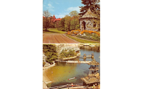 Flower Garden Lake Mohonk Mountain House New Paltz, New York Postcard