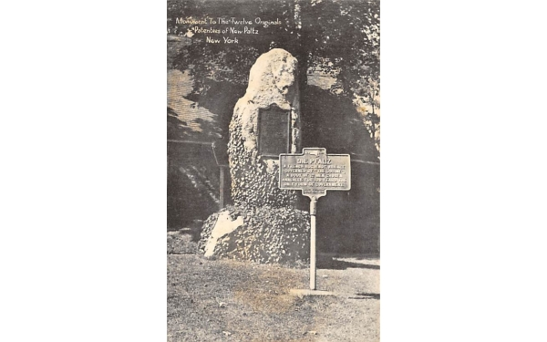Monument to Twelve Original Patentees New Paltz, New York Postcard