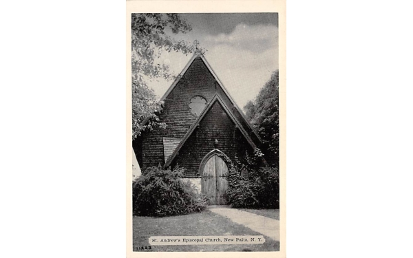 St Andrews Episcopal Church New Paltz, New York Postcard