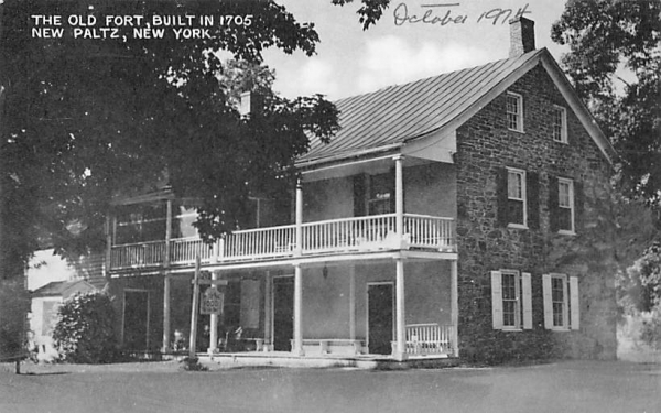 Old Fort 1705 New Paltz, New York Postcard