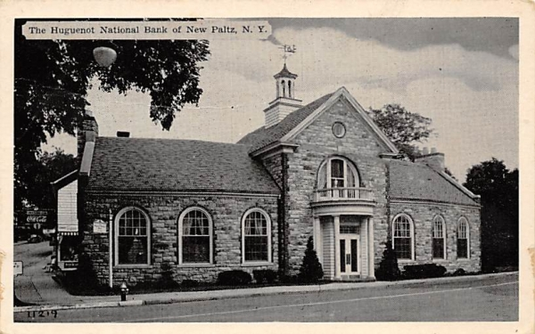Hugernot National Bank New Paltz, New York Postcard