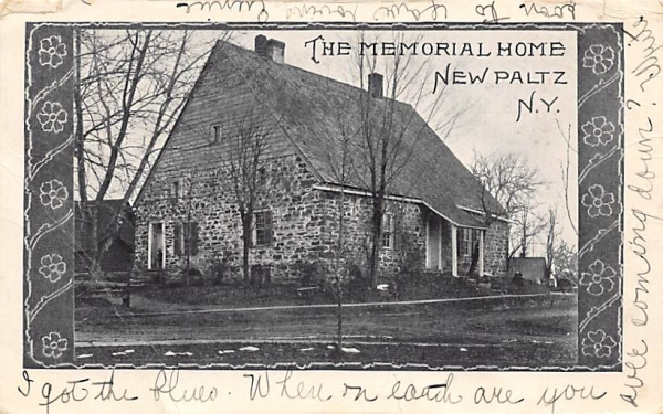 Memorial Home New Paltz, New York Postcard