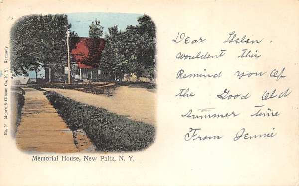 Memorial House  New Paltz, New York Postcard