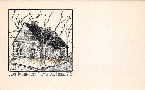 Jean Hasbrock Memorial House 1712 New Paltz, New York Postcard