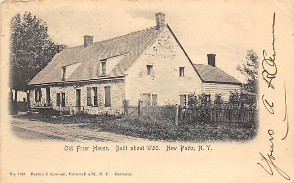 Old Freer House Built 1730 New Paltz, New York Postcard
