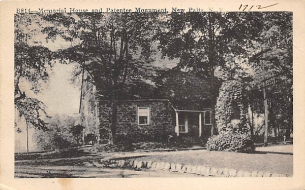 Memorial House and Patentee Monument New Paltz, New York Postcard