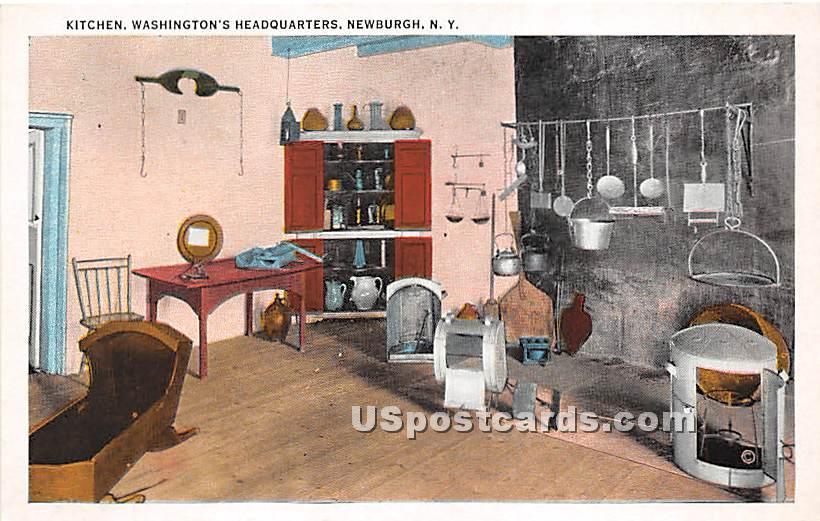Kitchen, Washington's Headquarters - Newburgh, New York NY Postcard