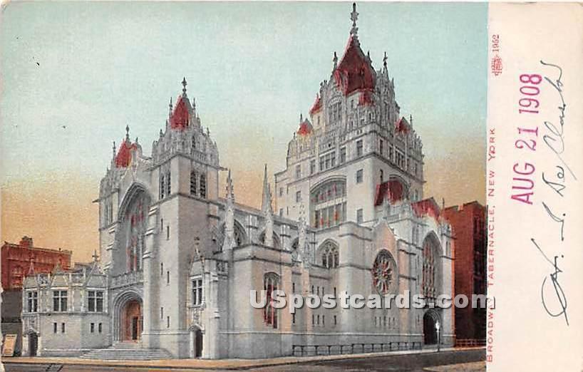 Broadway Tabernacle - New York City Postcards, New York NY Postcard