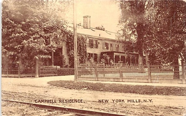 Campbell Residence New York Mills, New York Postcard