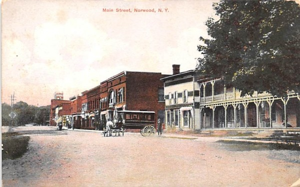 Main Street Norwood, New York Postcard