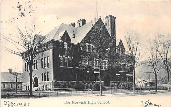 Norwich High School New York Postcard