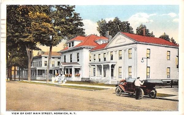 East Main Street Norwich, New York Postcard
