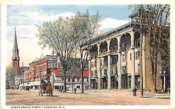 North Broad Street Norwich, New York Postcard