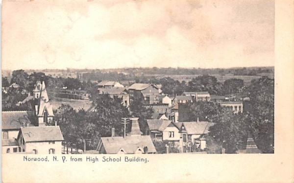From High School Building Norwood, New York Postcard