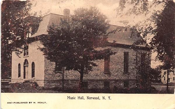 Music Hall Norwood, New York Postcard