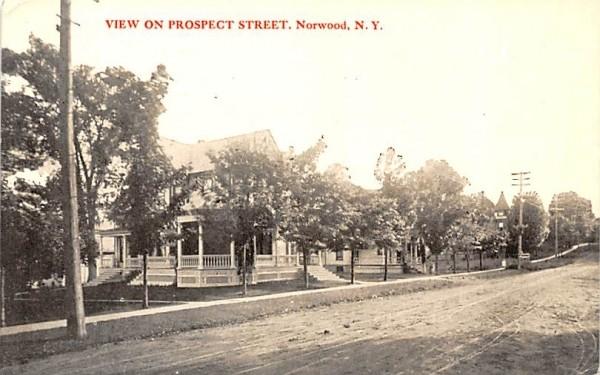 Prospect Street Norwood, New York Postcard
