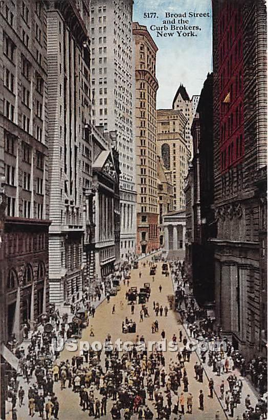 Broad Street - New York City Postcards, New York NY Postcard