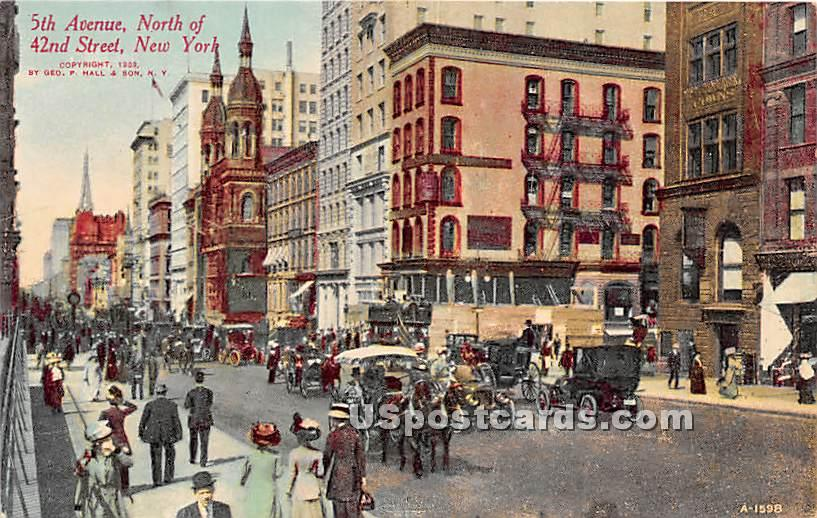 5th Ave & 42nd Ave - New York City Postcards, New York NY Postcard