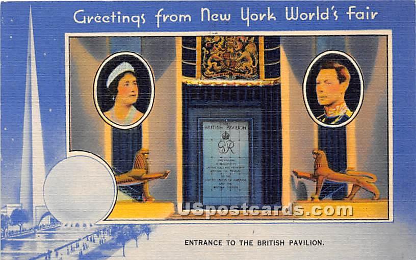 British Pavilion, New York Worlds Fair - New York City Postcards Postcard