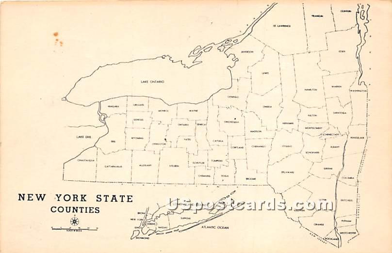 Counties - New York State Postcards, New York NY Postcard