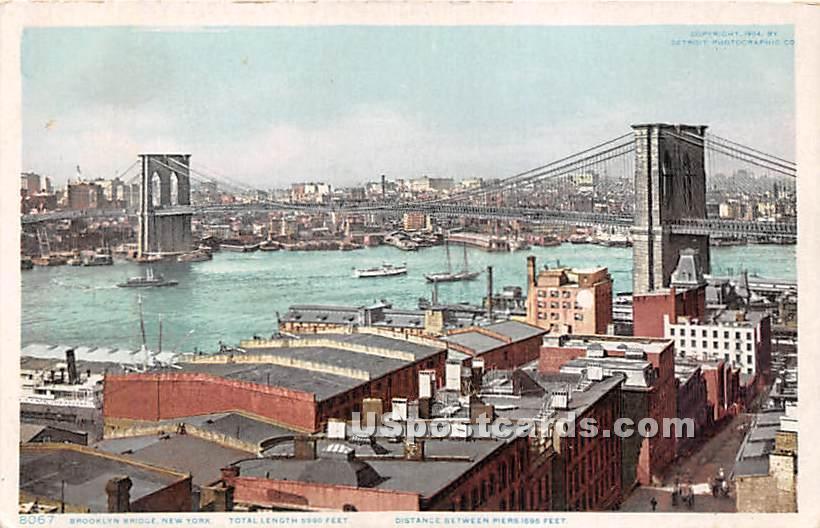 Brooklyn Bridge - New York City Postcards, New York NY Postcard
