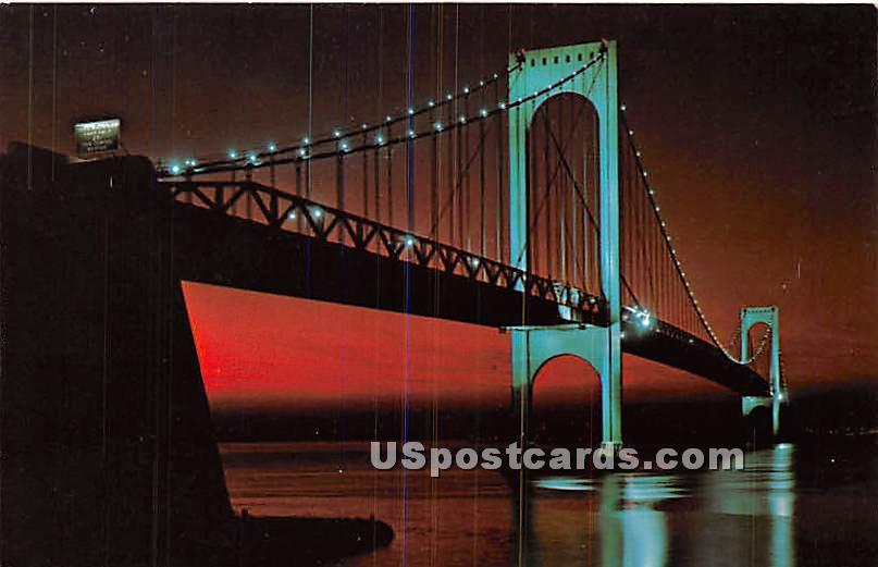 Bronx Whitestone Bridge - New York City Bridges Postcards, New York NY Postcard