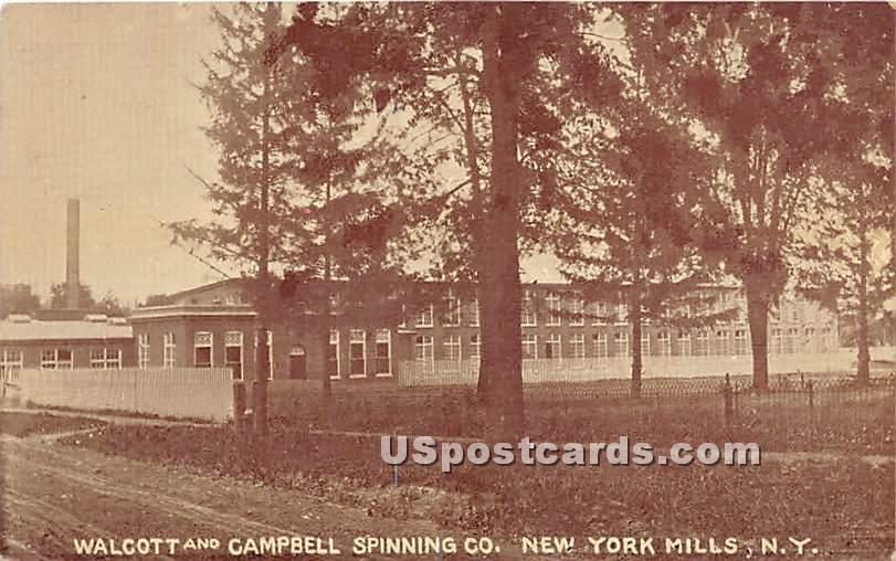 Walcott & Campbell Spinning CO - New York Mills Postcards, New York NY Postcard