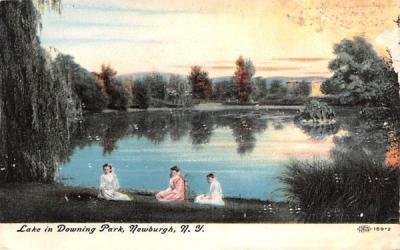 Lake in Downing Park Newburgh, New York Postcard