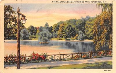 Lake at Downing Park Newburgh, New York Postcard