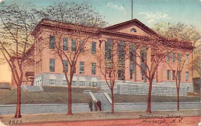 Broadway School Newburgh, New York Postcard