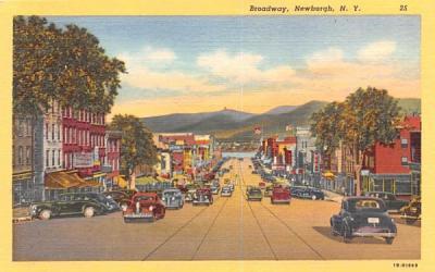 Broadway Newburgh, New York Postcard
