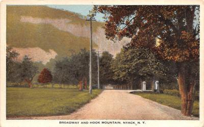 Broadway & Hook Mountain Nyack, New York Postcard
