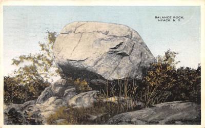 Balance Rock Nyack, New York Postcard