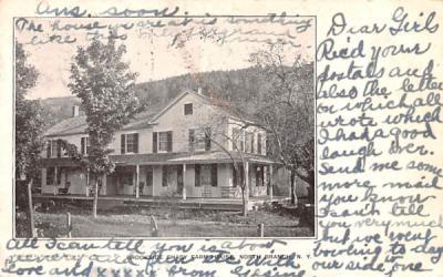 Brookside Shady Farm House North Branch, New York Postcard
