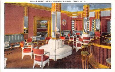 Indian Room Niagara Falls, New York Postcard
