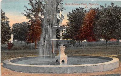 Bruckhausen Park Norwich, New York Postcard