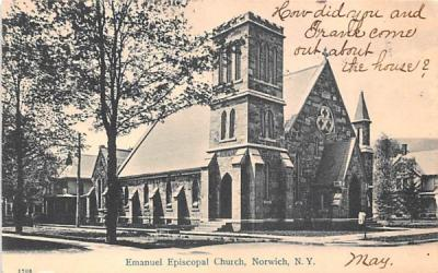 Emanuel Episcopal Church Norwich, New York Postcard