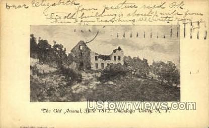 The Old Arsenal - Onondaga Valley, New York NY Postcard