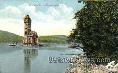 Kingfisher Tower - Otsego Lake, New York NY Postcard