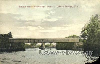 Sacandago River - Misc, New York NY Postcard