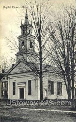 Baptist Church - Otego, New York NY Postcard